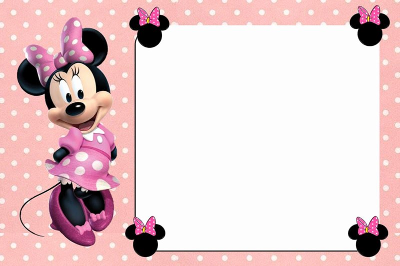 Free Line Minnie Mouse Invitation Template Free