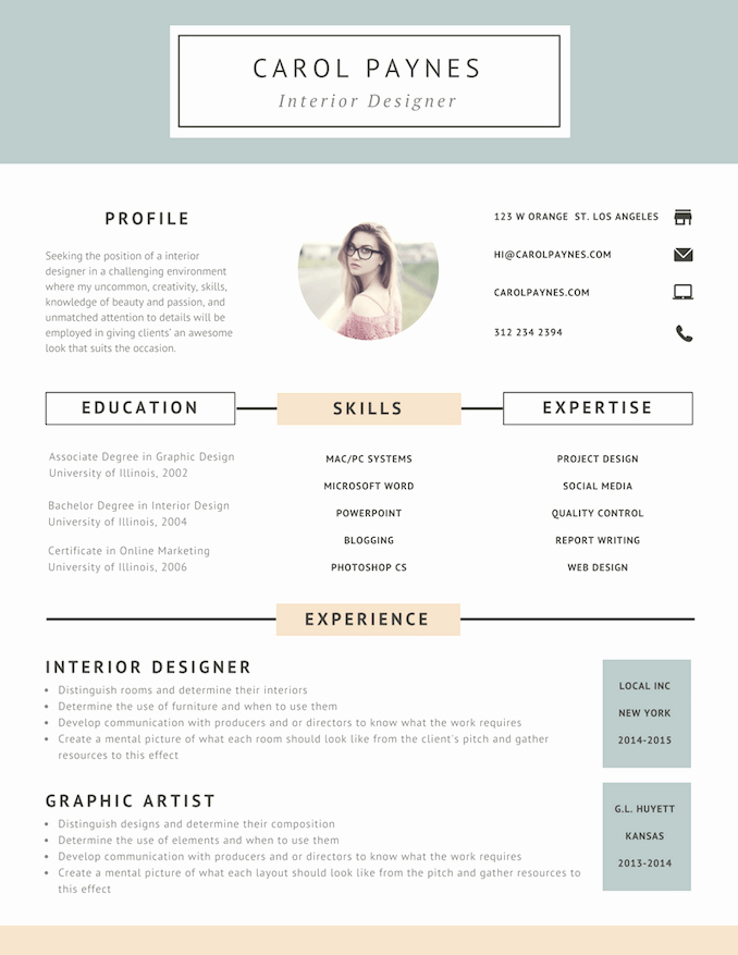 Free Line Resume Builder Design A Custom Resume In Canva