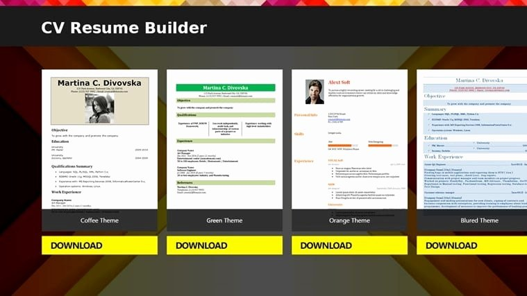 Free Line Resume Builder software Download Best Resume