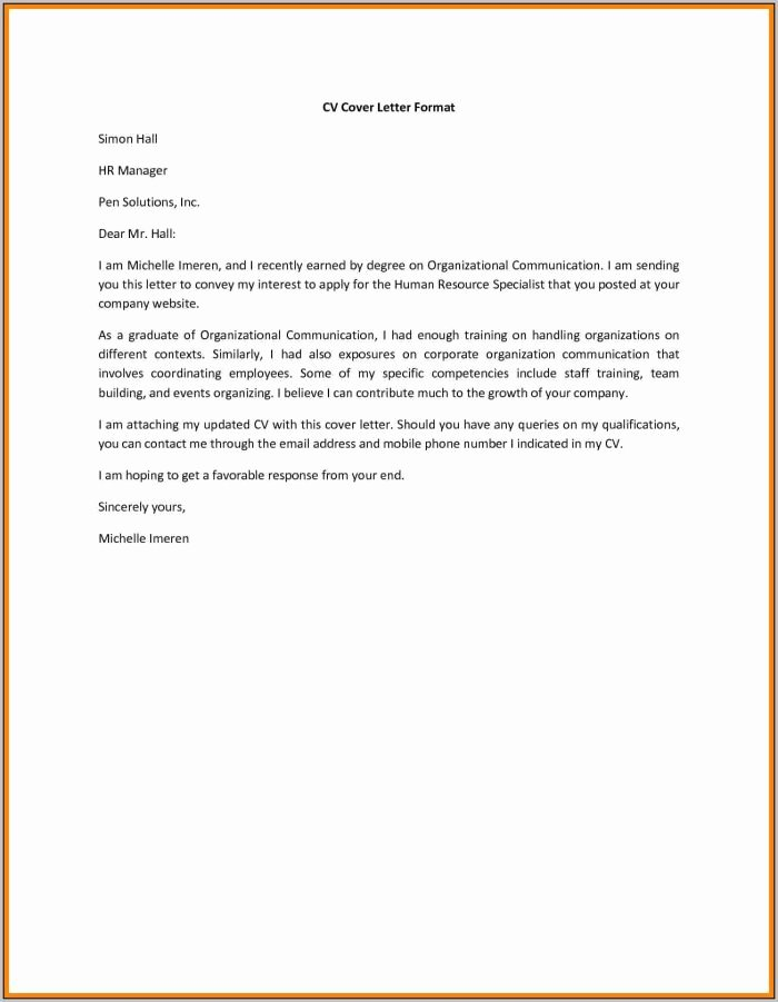 Free Line Resume Cover Letter Builder Cover Letter