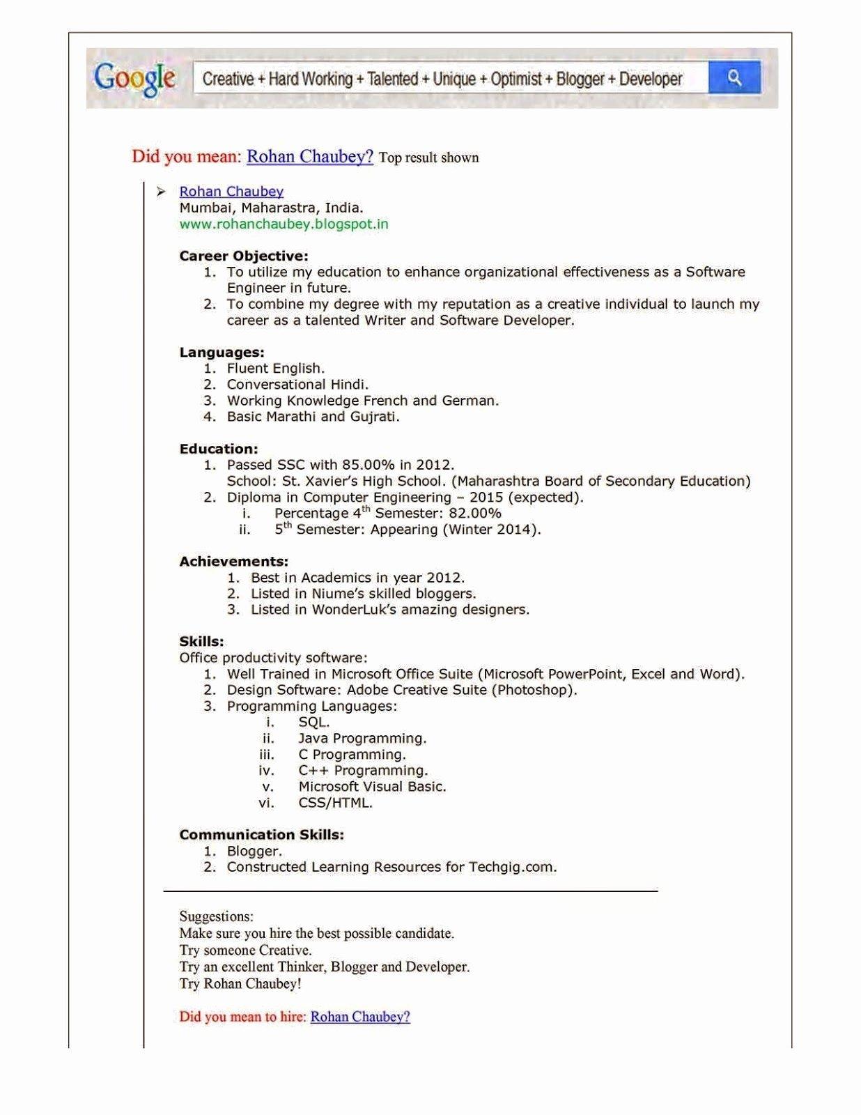 Free Line Resume Creator Luxury Resume for software