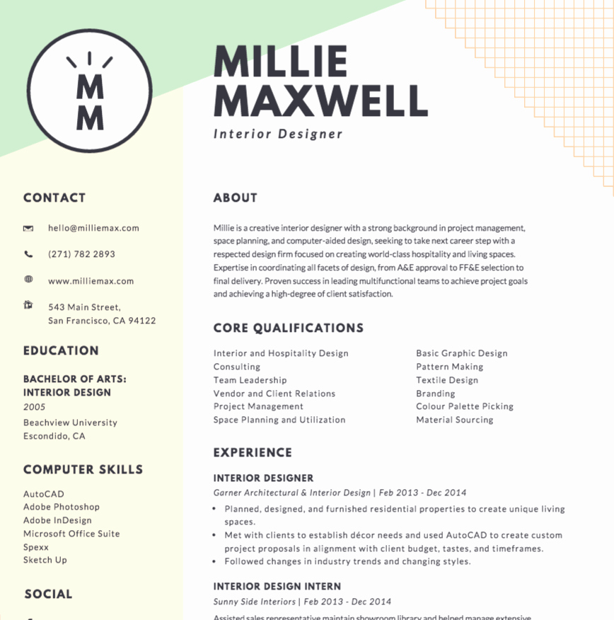 Free Line Resume Maker Canva
