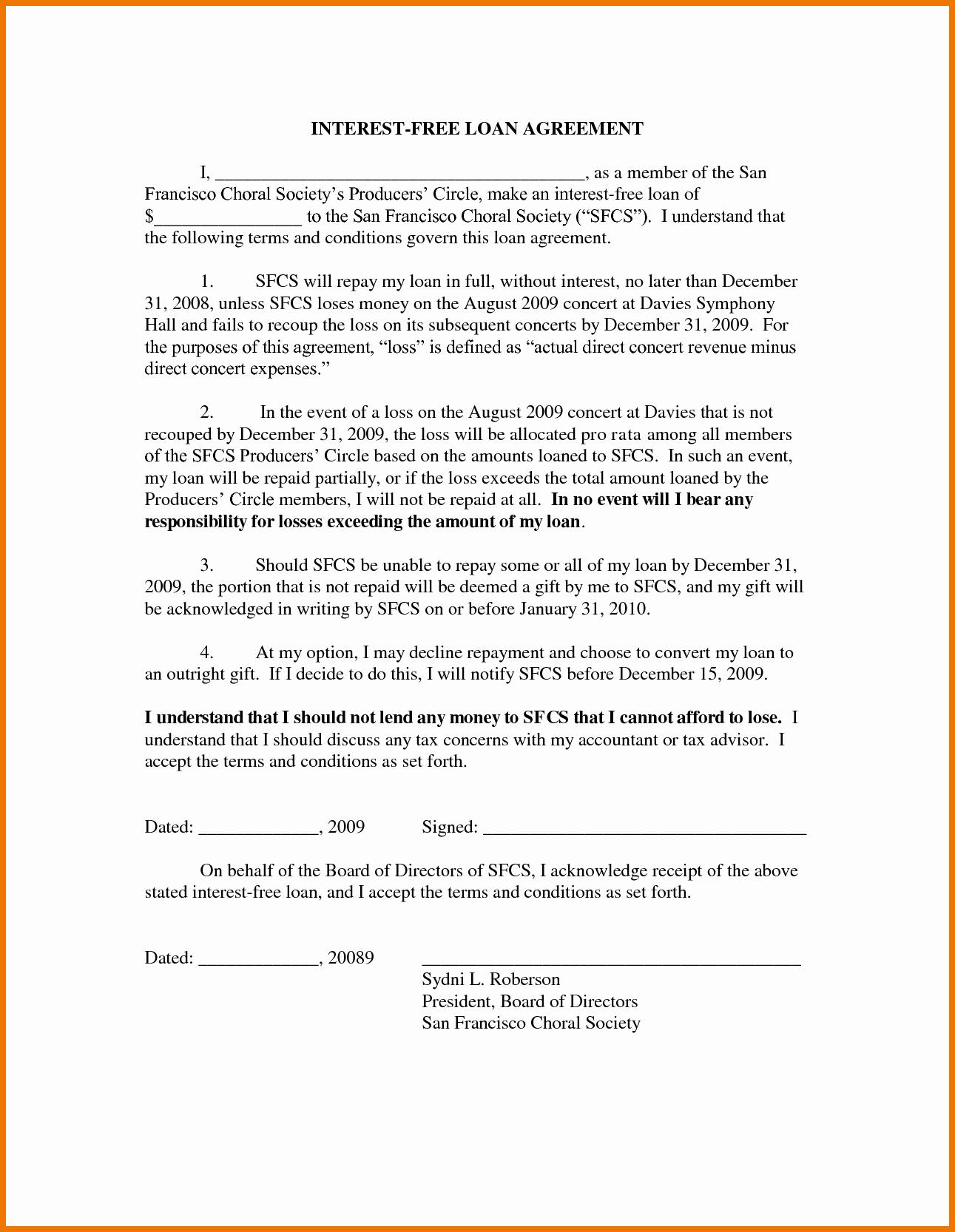 Free Loan Document Template Portablegasgrillweber