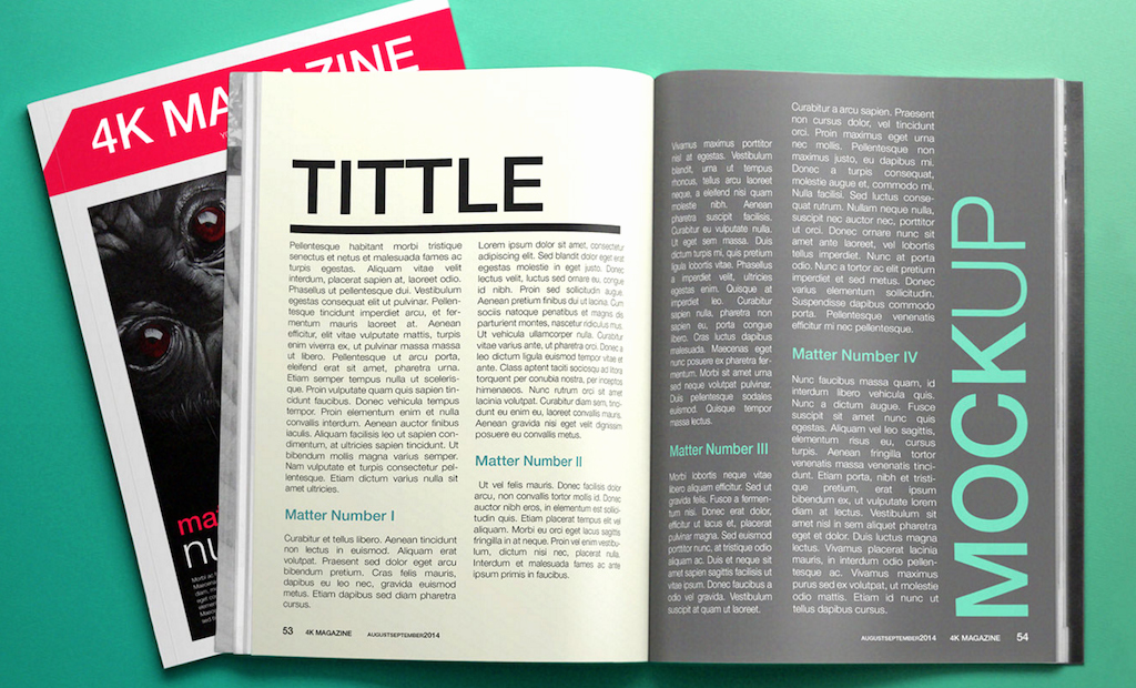 Free Magazine Page Layout Design Template
