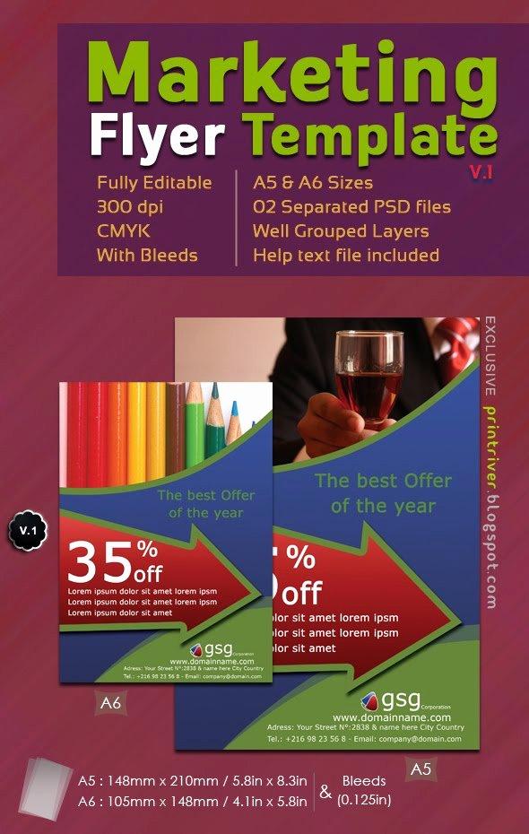 Free Marketing Flyer Shoptemplate V 1
