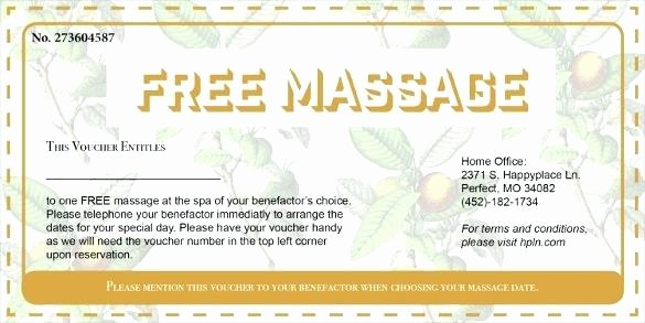 Free Massage Gift Voucher Template
