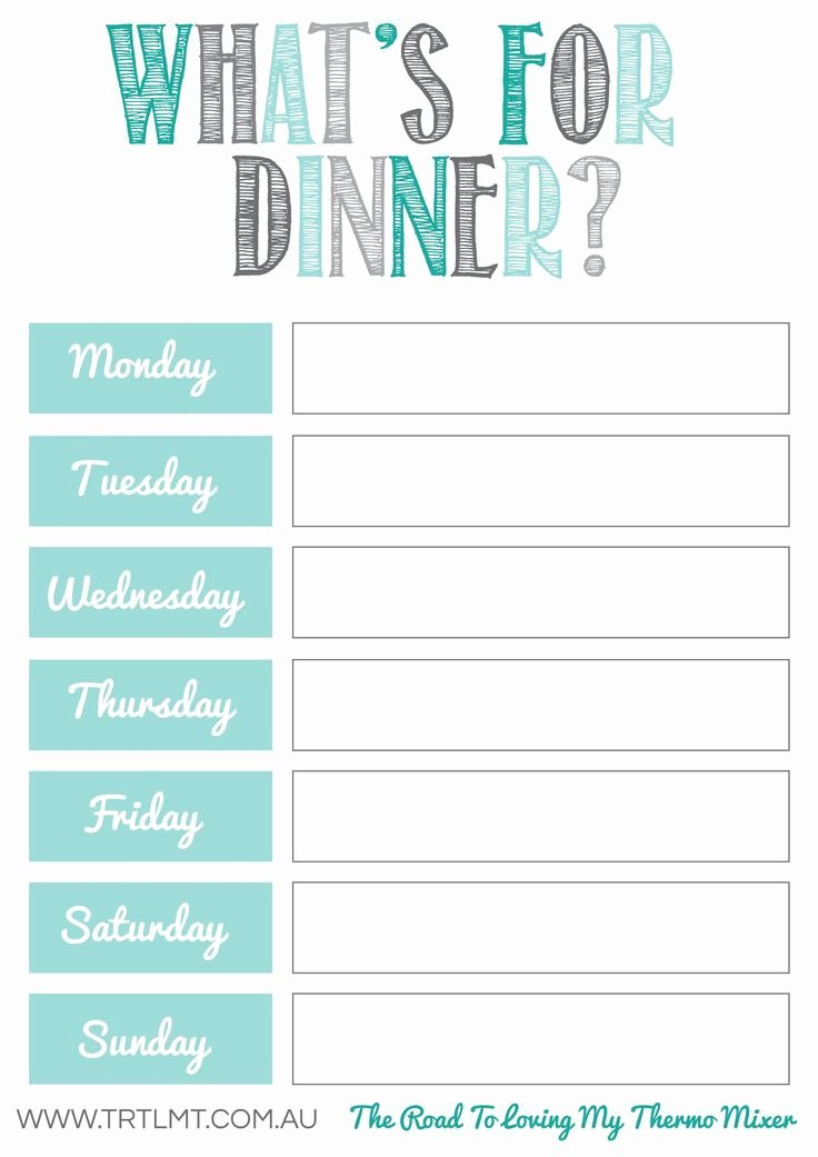 Free Meal Planning Printables Printables