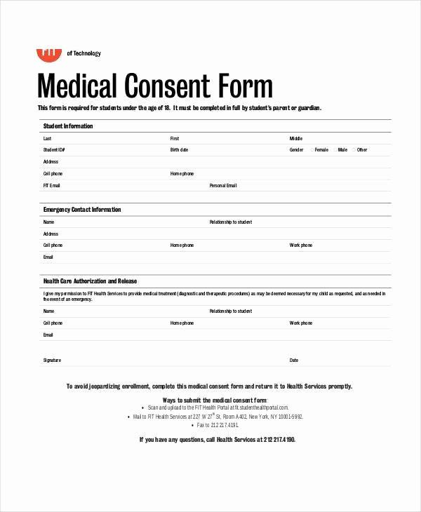 Free Medical Consent form Seatle Davidjoel