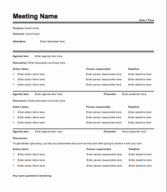 Free Meeting Minutes Template How to Write Meeting