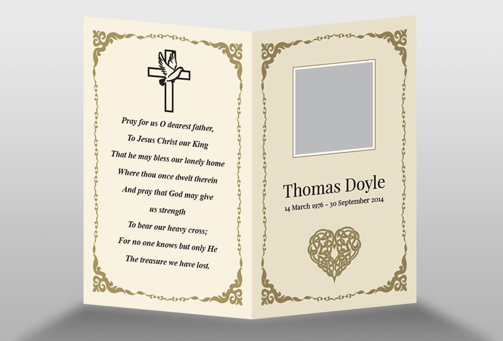 Free Memorial Card Template In Indesign format Download
