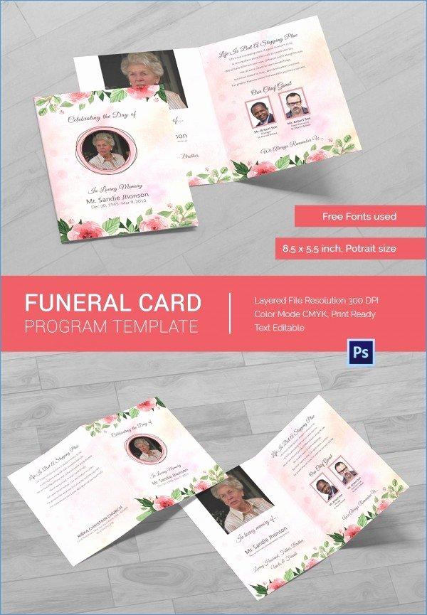 Free Memorial Card Template