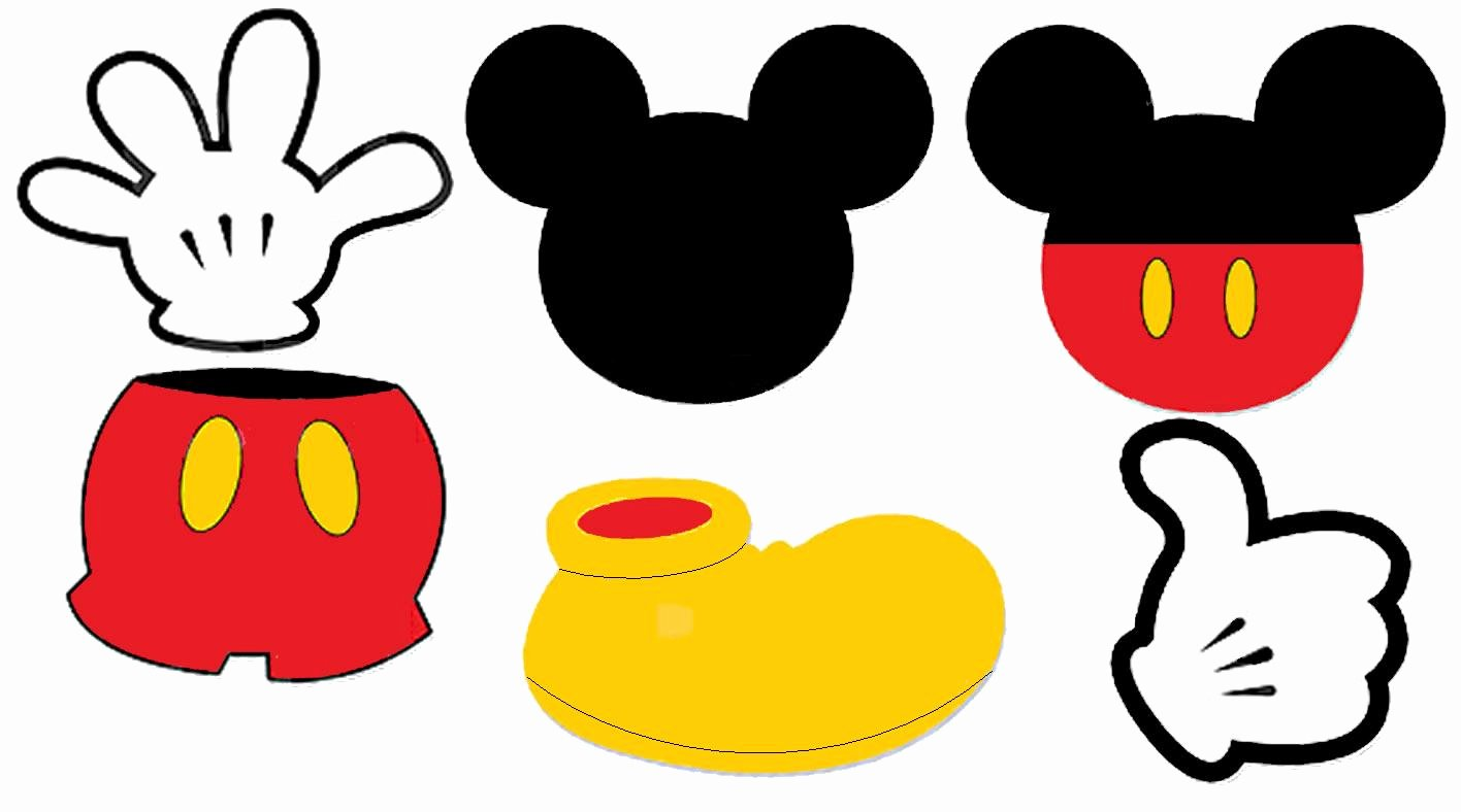 Free Mickey Mouse Face Template Download Free Clip Art