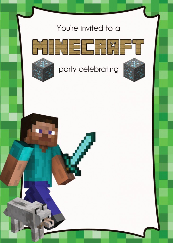 Free Minecraft Party Printables – Lemonberrymoon