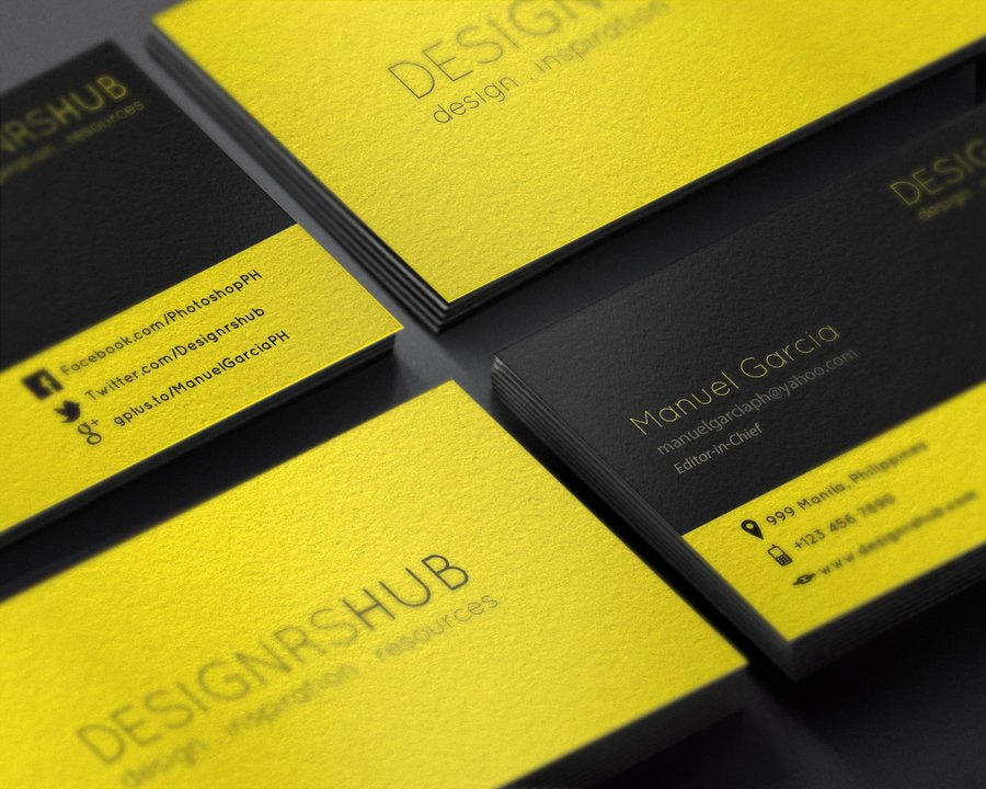 Free Minimal Business Card Design Psd Template by