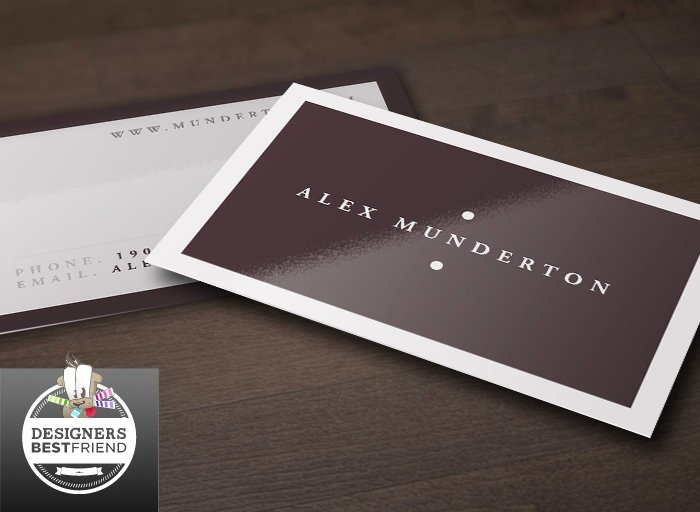 Free Minimal Business Card Template Designers Best Friend