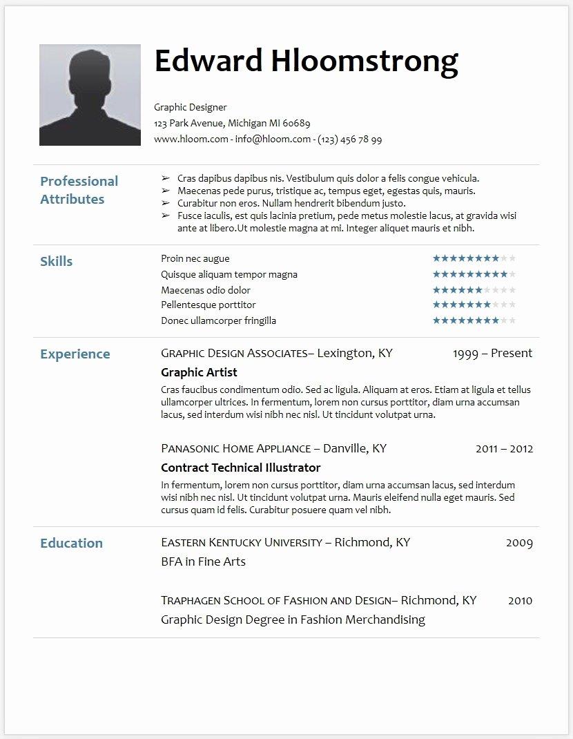Free Minimalist Resume Template Google Docs