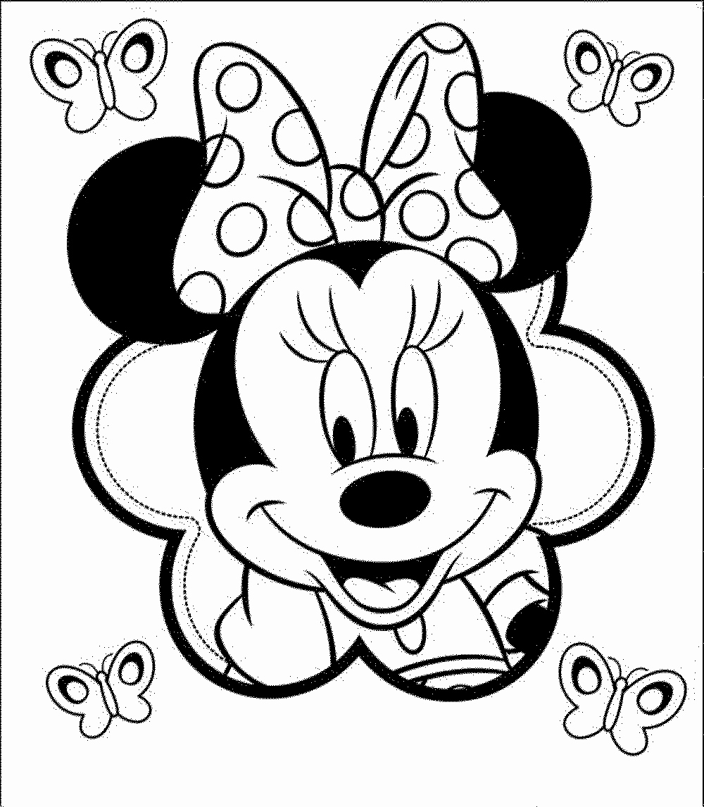 Free Minnie Mouse Face Coloring Pages Download Free Clip