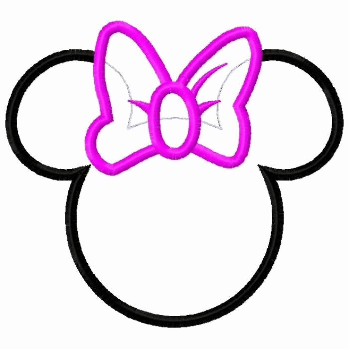 Free Minnie Mouse Outline Head Download Free Clip Art