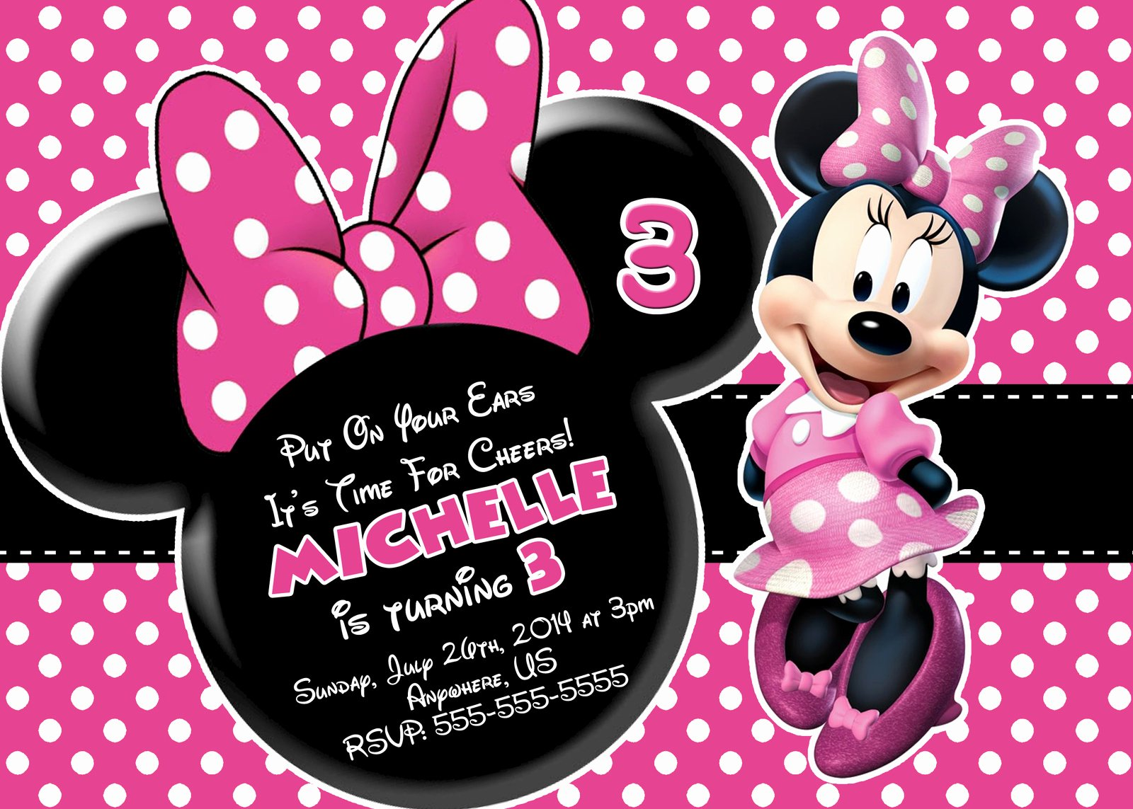 Free Minnie Mouse Printable Birthday Invitations