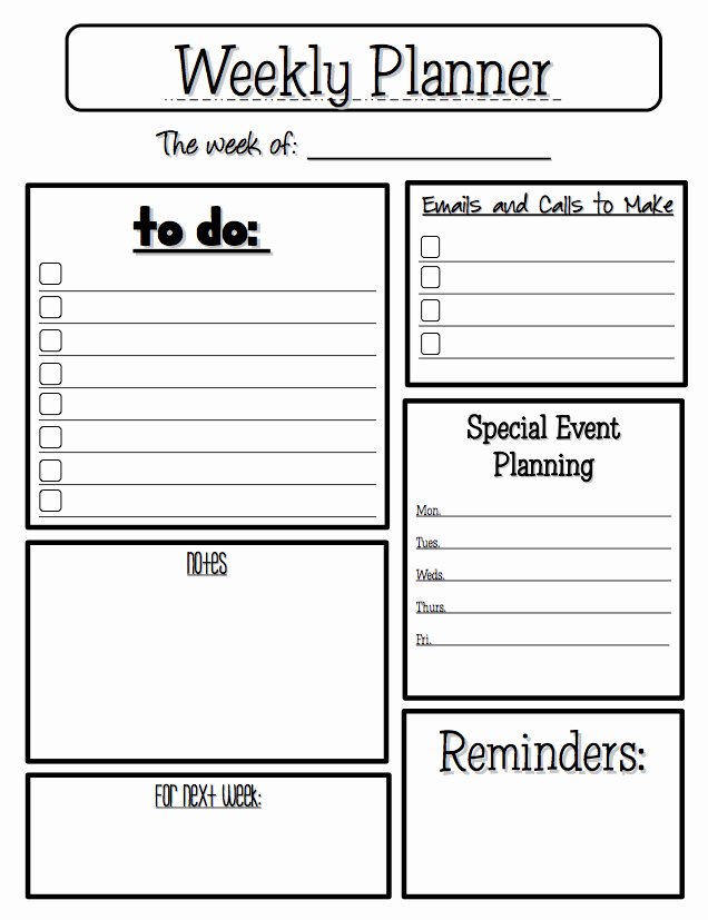 "Free Misc Lesson ""weekly Planner"" Go to the Best Of"