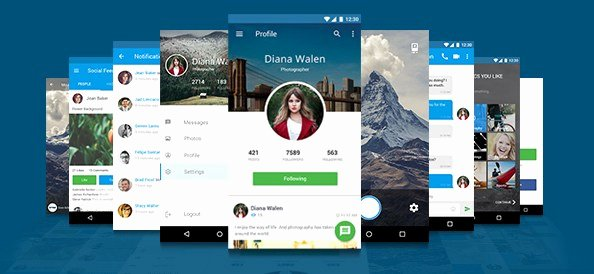 free mobile application design template