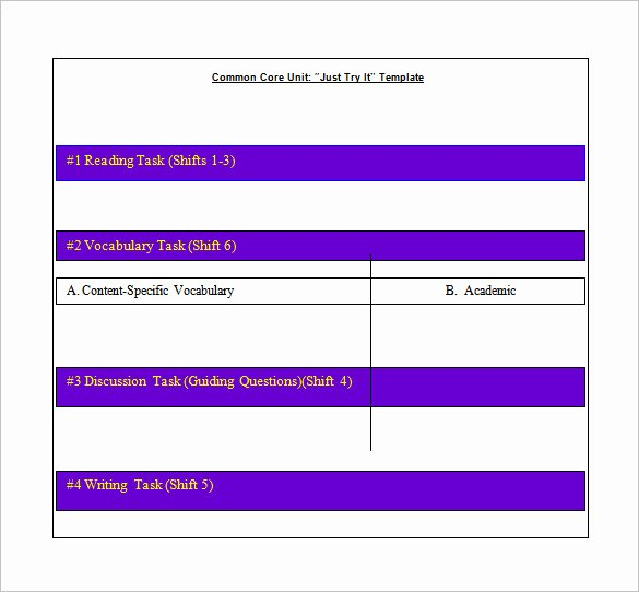 Free Mon Core Math Lesson Plan Template Guided