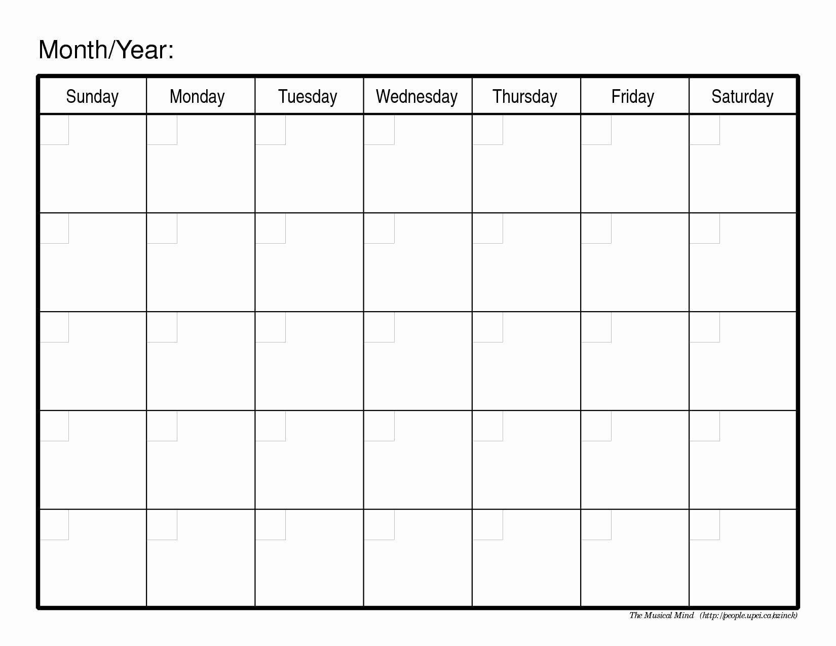 Free Monthly Calendar Template Girl Scouts