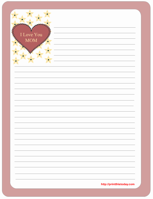 Free Mother S Day Stationery Printables