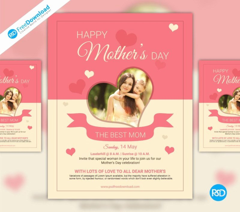 Free Mothers Day Psd Flyer Template