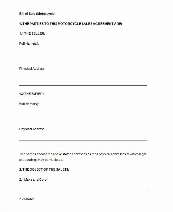 Free Motor Vehicle Bill Sale Template Invitation Template