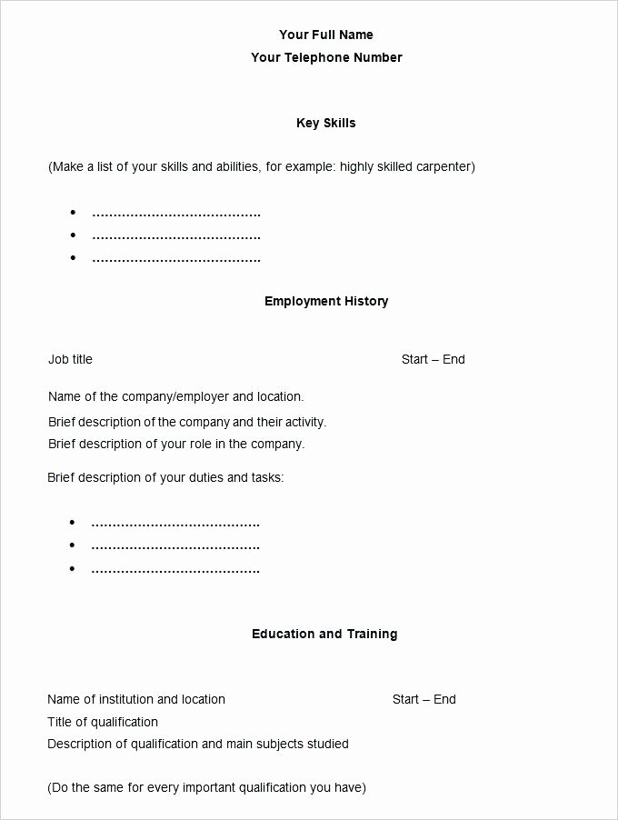 Free Ms Word Resume Template 2016 Does Microsoft Have