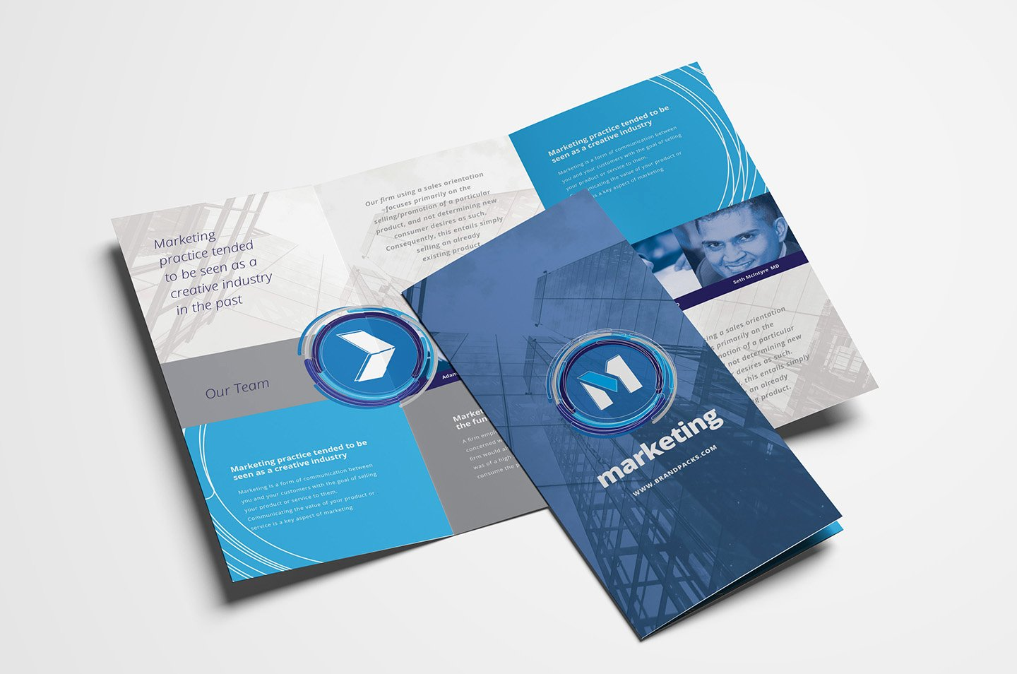 Free Multipurpose Trifold Brochure Template for Shop