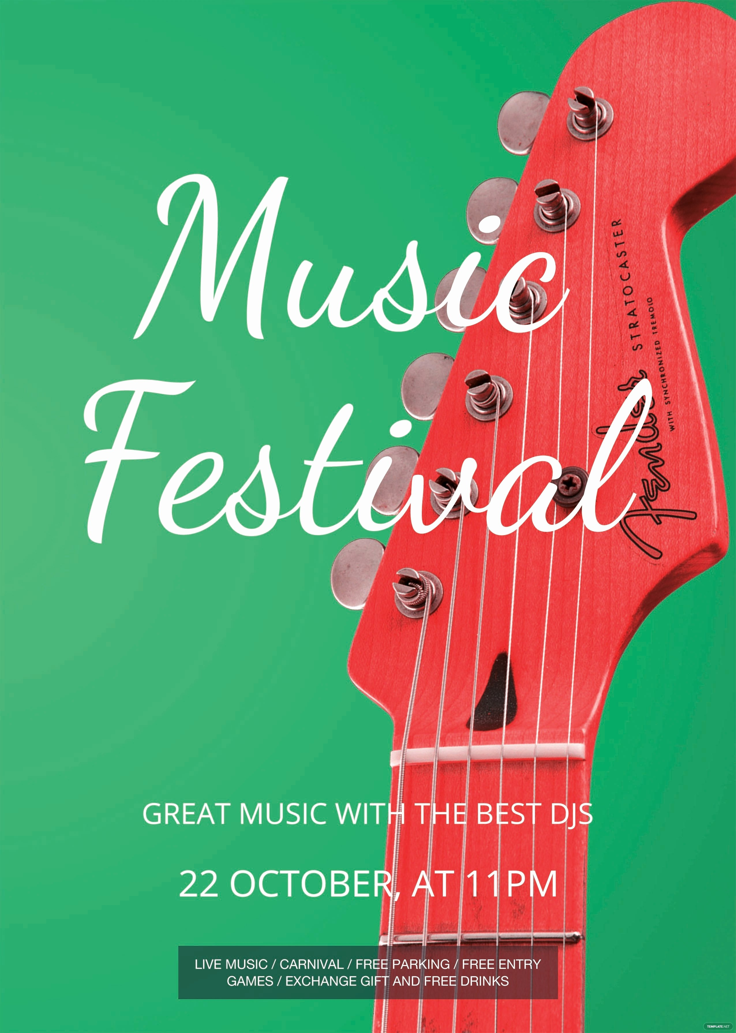 Free Music Festival Flyer Template In Psd Ms Word