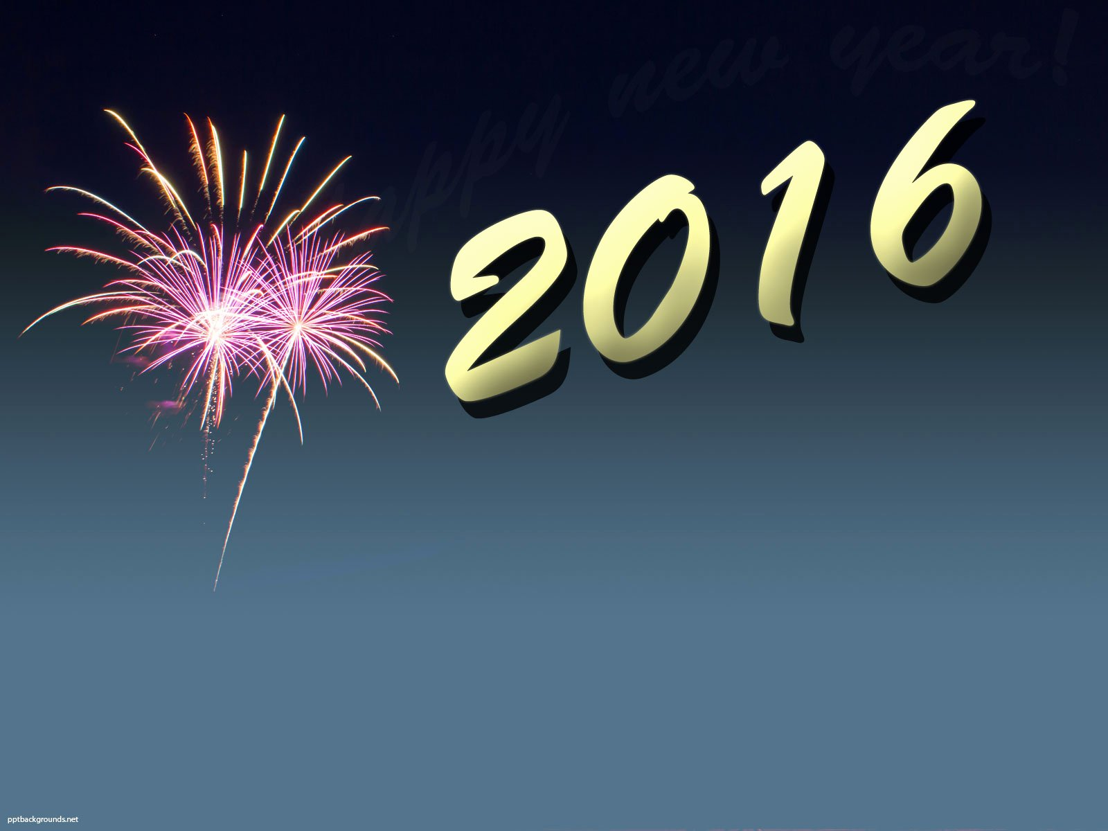 Free New Year 2016 Backgrounds for Powerpoint Holiday