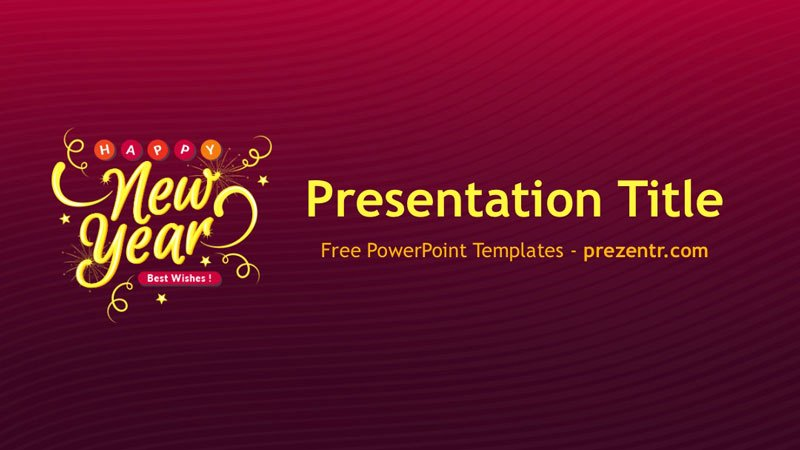 Free New Year 2018 Powerpoint Template Prezentr Ppt