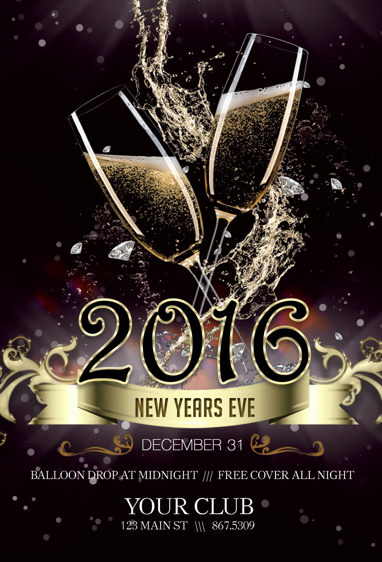 Free New Years Eve Flyer Template Portablegasgrillweber