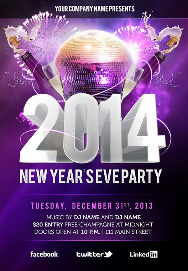Free New Year's Eve Psd Party Flyer Template Download On