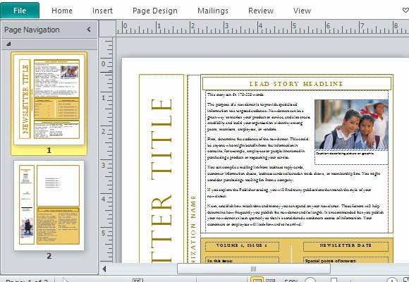 Free Newsletter Templates