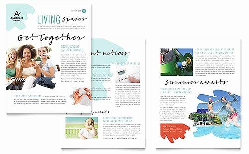 Free Newsletter Templates Download Newsletter Designs