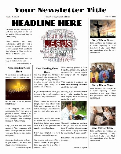 Free Newsletter Templates Print and Digital