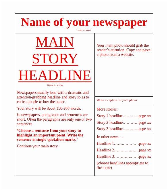 Free Newspaper Template 10 Blank Google Docs Word