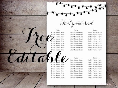 Free Night Light Wedding Chart Printable Bride Bows