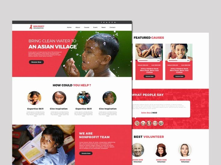 Free Non Profit Website Template Free Download