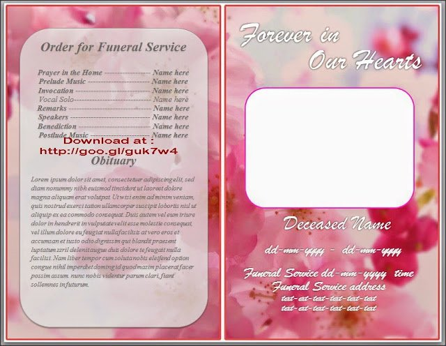 Free Obituary Template