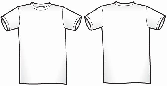 Free Of Twosided T Shirt Template Free Vector