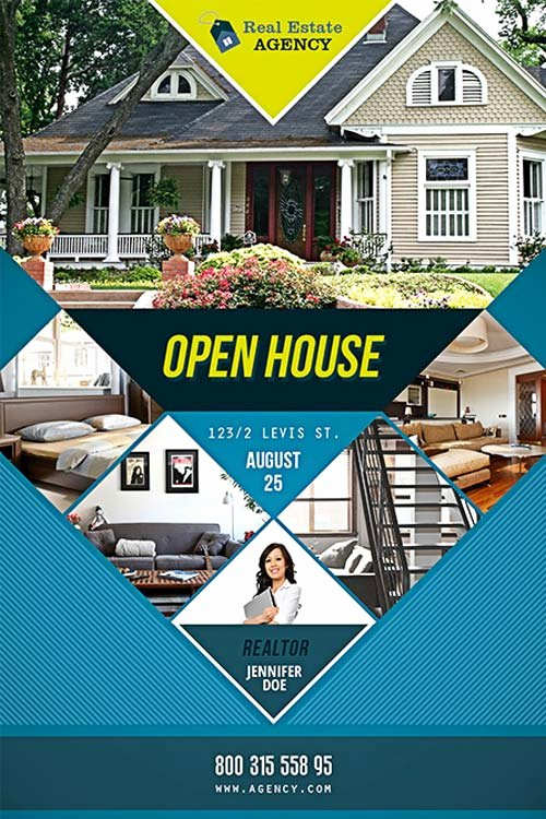 Free Open House Flyer Template Download Psd for Shop