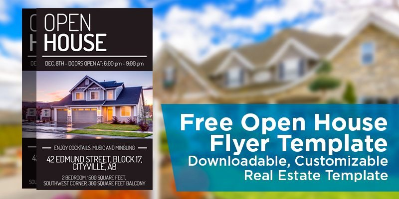 Free Open House Flyer Template – Downloadable