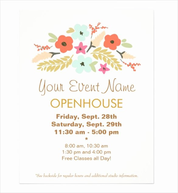 Free Open House Invitation Template Flyer Templ Free