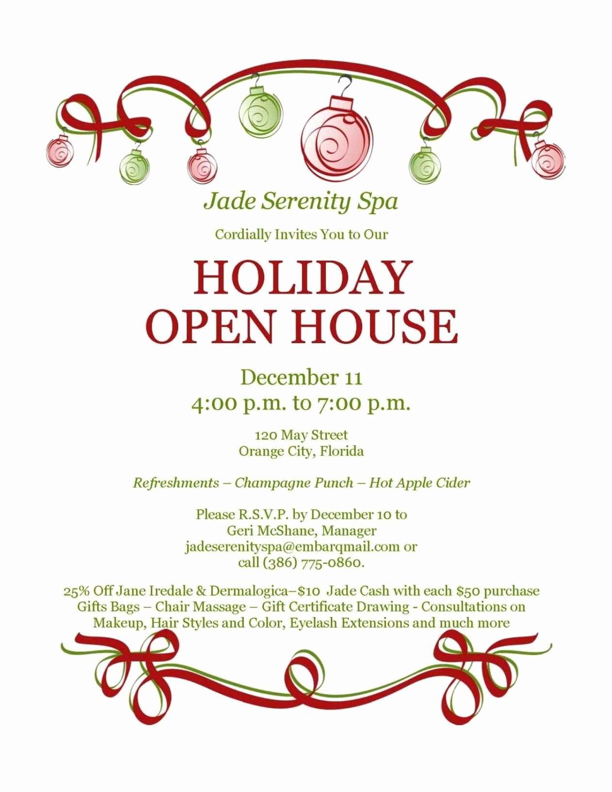 Free Open House Invitation Template Sampletemplatess