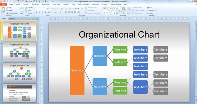 Free org Chart Powerpoint Template for organizational